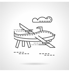 Uav thin line icon vector