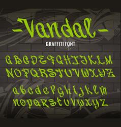Vandal graffiti font vector