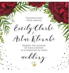 Wedding floral watercolor invite invitation card vector