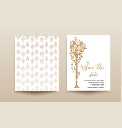 wedding template card vector image