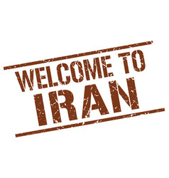 Welcome to iran stamp vector