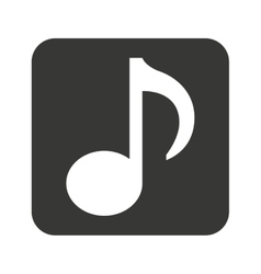Note music silhouette icon vector