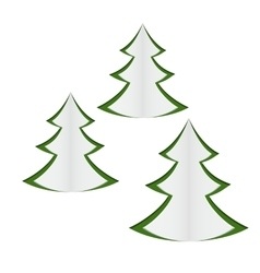 paper christmas trees vector image