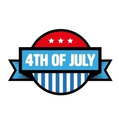 Fourth of July vintage stamp vector image