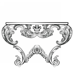 Exquisite rich rococo table vector