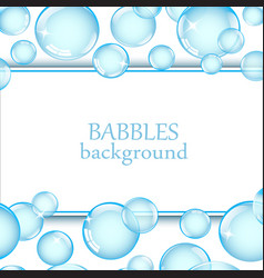 Background with soap bubbles vector