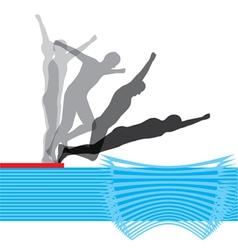Swimming vector image