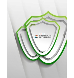 protection shield paper design vector image