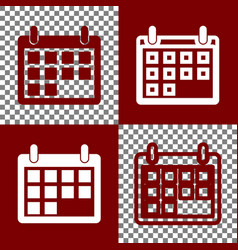 Calendar sign   bordo and vector
