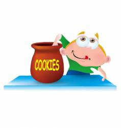 the cookie bandit vector image