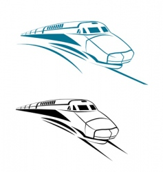 Railroad and subway symbols vector