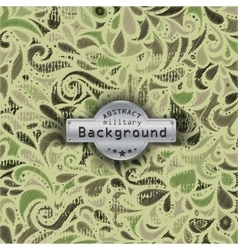 Camouflage military curly decorative pattern vector