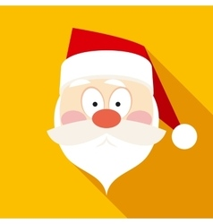 Santa claus face in flat style with long shadows vector