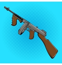 Automatic gun comic book style pop art vector