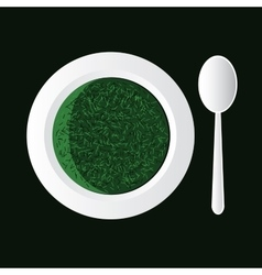 Spinach soup vector