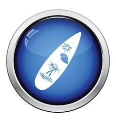 Surfboard icon vector