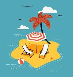 Beach island vector