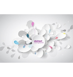 Abstract background with black and white paper vector image vector image
