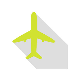 Airplane sign pear icon with flat vector