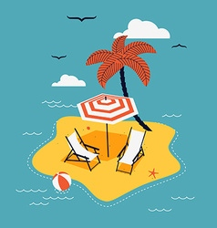 Beach Island vector image