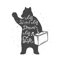 Bear with quote vector
