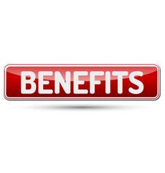 Benefits - abstract beautiful button with text vector