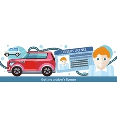 Cartoons Man with Driver License vector image vector image