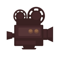 cinema movie or film camera flat icon vector image