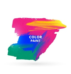 Colorful paint stain vector