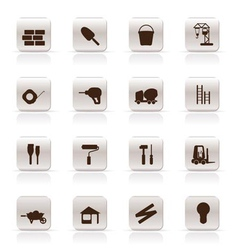 construction and building icon set vector image vector image