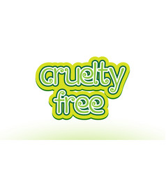 Cruelty free word text logo icon typography design vector