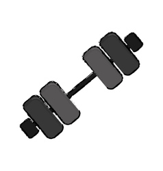 Dumbbell weight icon image vector