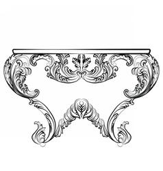 Exquisite rich rococo table vector