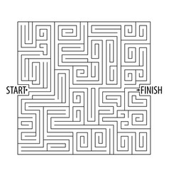 Find the right way logical games maze game vector