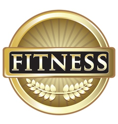 Fitness gold emblem vector