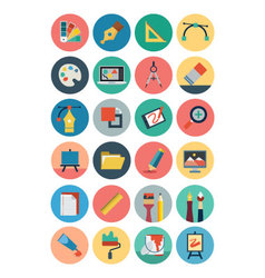Flat Design Icons 1 vector image
