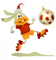 football rabbit vector image vector image
