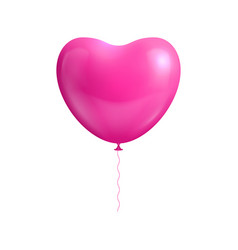 heart shape balloon isolated vector image
