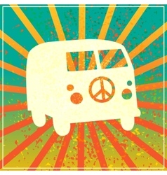 Hippie style vector