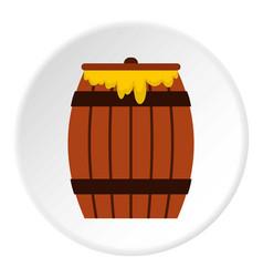 Honey keg icon circle vector