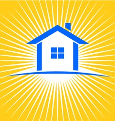 House sunburst logo vector image