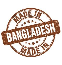 Made in bangladesh brown grunge round stamp vector