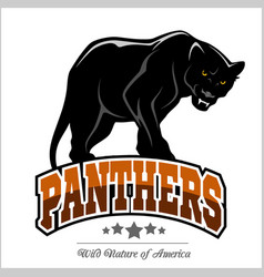 Panthers mascot - vector