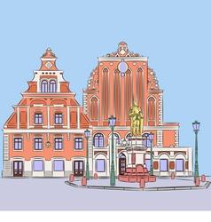 Riga a vector image