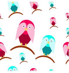 seamless tileable texture with cartoon birds vector image vector image