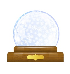 Snow globe with snowflakes vector image vector image