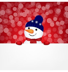 Snowman with bokeh vector