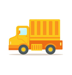 Truck with cargo container for shipping and vector