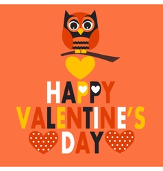 Valentines day owl vector
