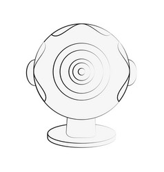 webcam pc technology vector image